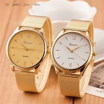 Relógio Feminino Clássico Dourado Quartzo Geneva Lindo Luxo