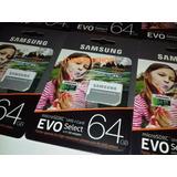 Memoria Samsung S8 64gb 100mb/s Micro Sd Evo Select 4k 2017
