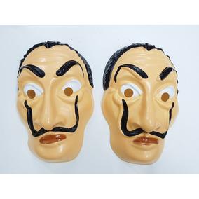 X20 Mascaras Caretas La Casa De Papel. Plastica Con Relieve