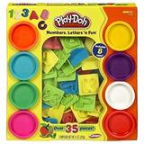 Playdoh Letras Y Numeros 8 Potes Y 36 Moldes Original Hasbro
