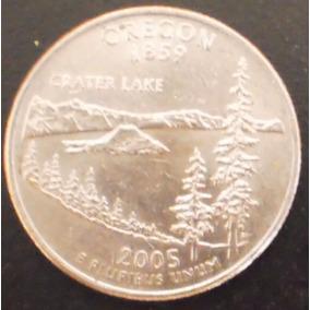 Moeda Eua Quarter Dollar Oregon 2005 D