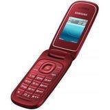 Celular Flip P Idoso Samsung Fm Desbloqueado Vermelho