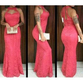 Vestido Renda Longo Madrinha Festa Casamento Decote Atrás