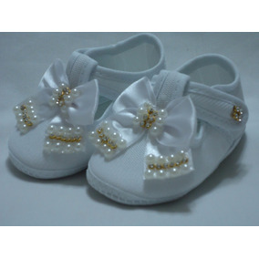 Sapatinho Bebê - 100 - Cor Branco