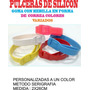 Brazaletes De Goma Silicon Personalizada Pop Cotillon