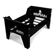 Brasero Asaparri Chapa Hierro Brasas Parrilla 41x25x22 Negro