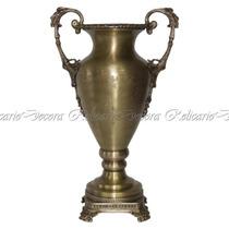 Ânfora De Bronze Imponente Relevos Rico Em Detalhes Classico