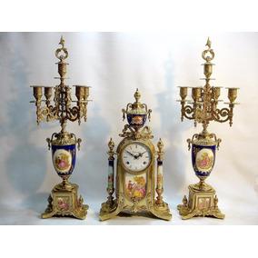 Reloj Italiano Garniture Candelabro Para 5 Velas