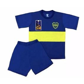 Pijama Club Futbol Boca Juniors Niños Oficial Remera Equipo