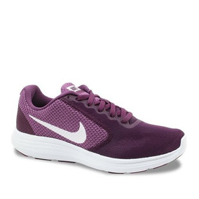 Tênis Nike Revolution 3 Feminino Bordô/branco