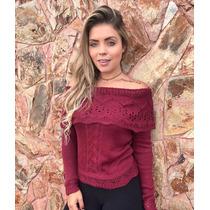Blusa Tricot/tricô Feminina Ciganinha Modelo 2017