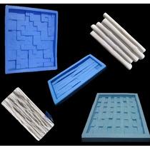 Kit 5 Moldes Silicone Formas Decorativas 3d