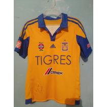 Camisa De Tigres Talla 12a De Niño Poco Uso