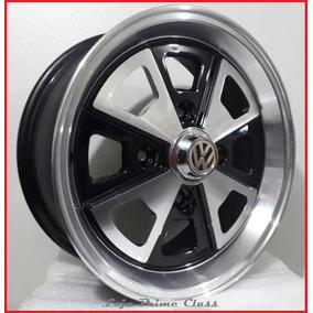 Par Rodas Aro17 4x130 Porsche Fusca Preta Diam +bico R84 17