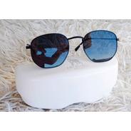 Óculos De Sol Lobo Branco Vip Hexagonal Preto