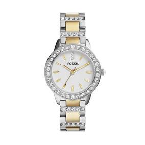 Reloj Dama Fossil Es2409 Color Combinado De Acero Inoxidable