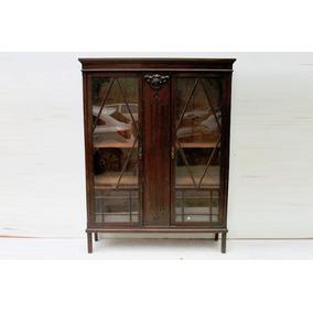 El_kin * Fabulosa Biblioteca De Roble Antigua De 2 Puertas