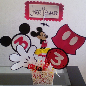 Figuras Centros De Mesa Mickey Mouse Y Minnie Mouse