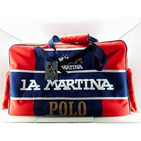 Bolso La Martina Lona-cuero. Original Edición Limitada. Rojo
