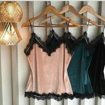 Blusa Veludo Molhado Alcinha E Renda Plus Size Tam Grandes