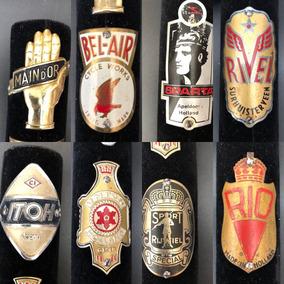 Coleção / Lote C/ 102 Emblemas De Bicicleta Antiga