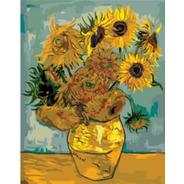 Pintura Numerada Girassois De Van Gogh