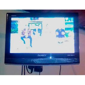 Television 19 Pulgadas Marca Sankey Con Base Aerea