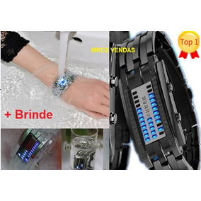 0e0ee9ef4de Relógios Futuristas Led Preto E Branco - Relógios no Mercado Livre ...