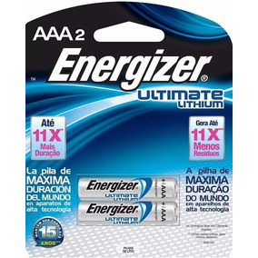 Pilha Aaa 1.5 Lithium Litio Ultimate Palito Energizer Sm 2un