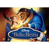Tarjetas Invitacion Cumpleaños La Bella Y A Bestia Animada