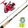 Equipo Pesca Señuelos Spinning Onaga 2.40 + Reel Vrf 4003