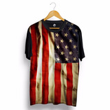 Camisa Masulina Bandeira Estados Unidos Camiseta Eua Blusa