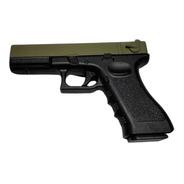 Pistola Airsoft Glock Golden Hawk Metal Y Polimero + Balines