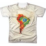 Camiseta Camisa Manga Curta Copa Do Mundo Seleção Futebol 06