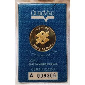 Raridade Moeda Em Ouro Puro 10g Banco Do Brasil Au999