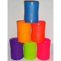 Linha De Pipa Porta/cone/lata/ Média Fluorescente Pacote C/6