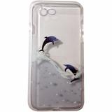 Funda Tpu Iphone 7 Transparente Con Delfines