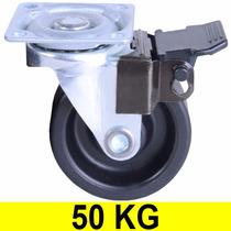Rodinha Com Freio Trava Roda Rodinhas Rodízios 50mm 50kg