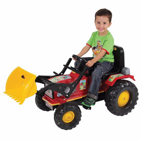 Mini Veiculo Trator Fazendeiro Farmer Vermelho Pá Pedal Buz