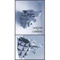 Game Of Thrones Stark Wolf Cabeza De Lobo (para Armar Papel)
