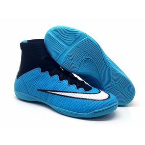 13f32d14fb Chuteira Adidas Cano Alto - Chuteiras de Futsal para Adultos Azul no ...