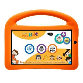 Tablet Dl Play Kids Branco 8gb 3g Intel Capa Protetora