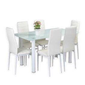 Comedor En Vidrio 6 Puestos Color Blanco