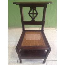 Cadeira Genuflexório De Frade Madeira Demolição