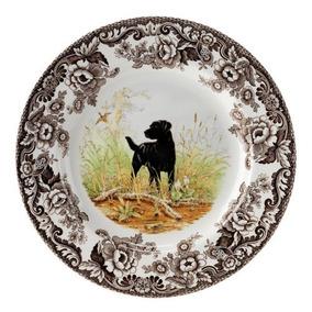 Spode Woodland Los Perros De Caza Negro Labrador Placa De E