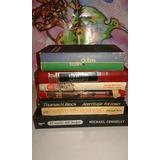 Lote De 7 Libros De Suspense Antiguos Pasta Dura Vintage