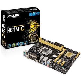 Placa-mãe Asus Intel Lga 1150 Matx H81m Dvi/vga,usb3.0 -nota