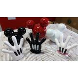 Kit 6 Pç Luvas Mãos Cabeças M Mickey Minnie Festa Decoração