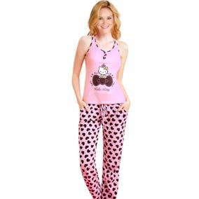 Conjunto Pijama Estampado Hello Kitty N4525 Vicky Form