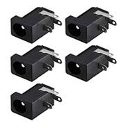 5 X Conector Jack P4 Fêmea Para Fontes C/plug P4 2.1mm